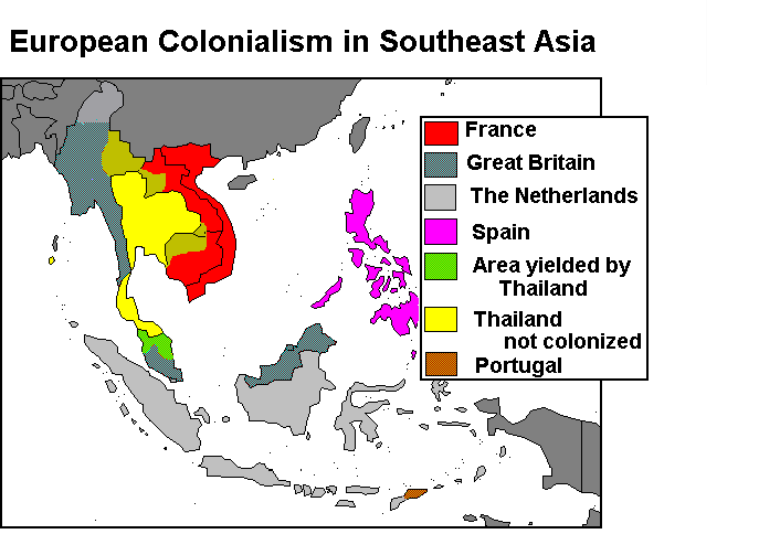 Map Of Asia During Imperialism.South East Asia Resource Guide To Imperialism