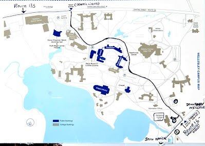 Wellesley College Map About the Wellesley College Club   Natick High School Class of 1975