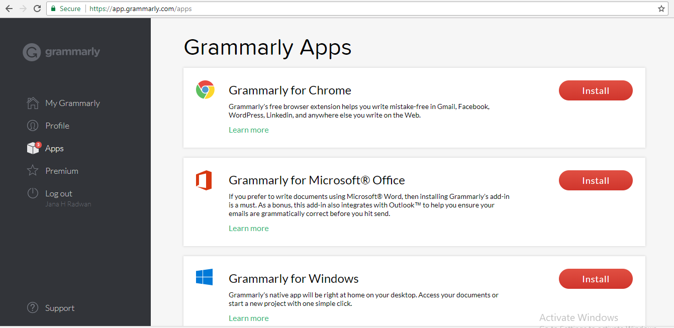 Grammarly Apps Integrations