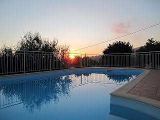 Sunset on the pool