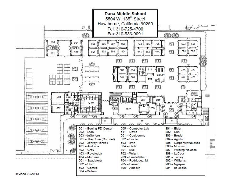 Map Of Dana Campus Rhdms Website