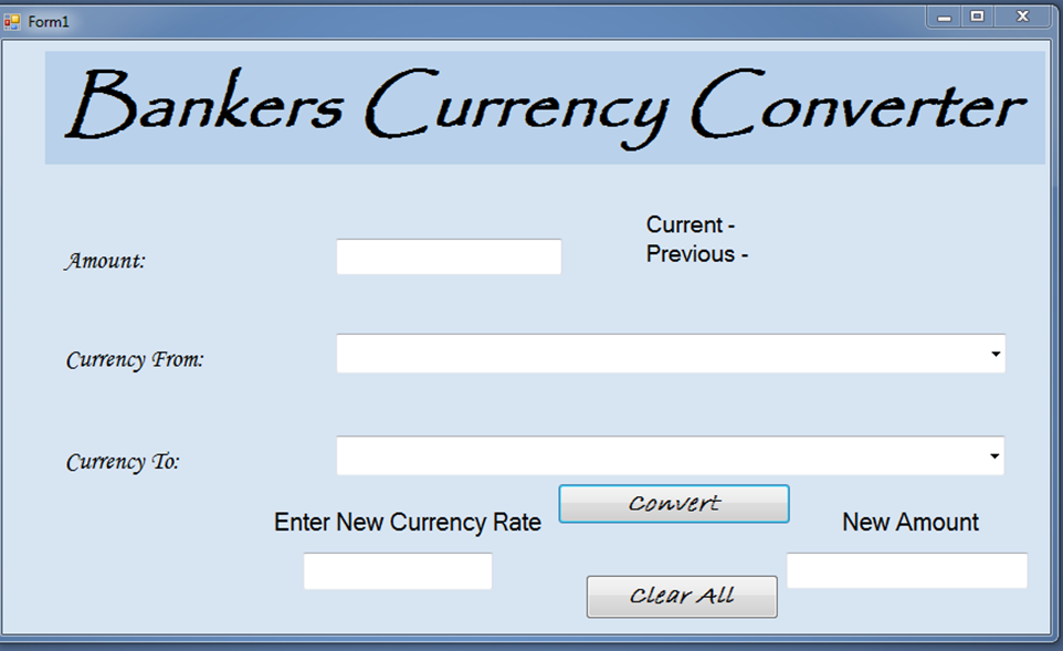 Here Is A Picture Of My Currency Converter Interface Design