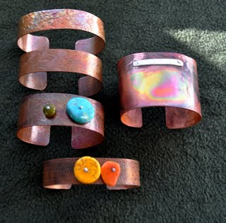 Copper bracelets for sale $10. to $25.