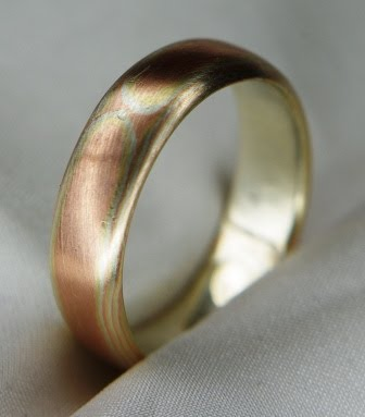 Wood Grain Wedding Bands