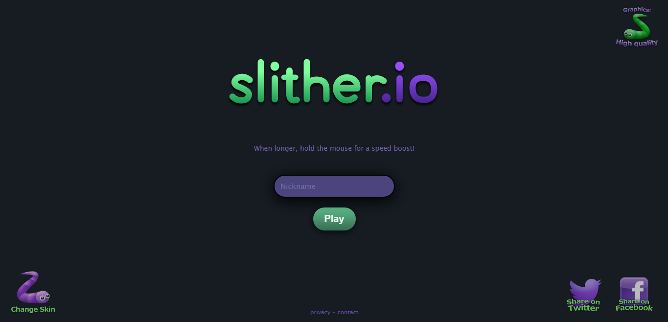 Slither.io - unblocked games at schools