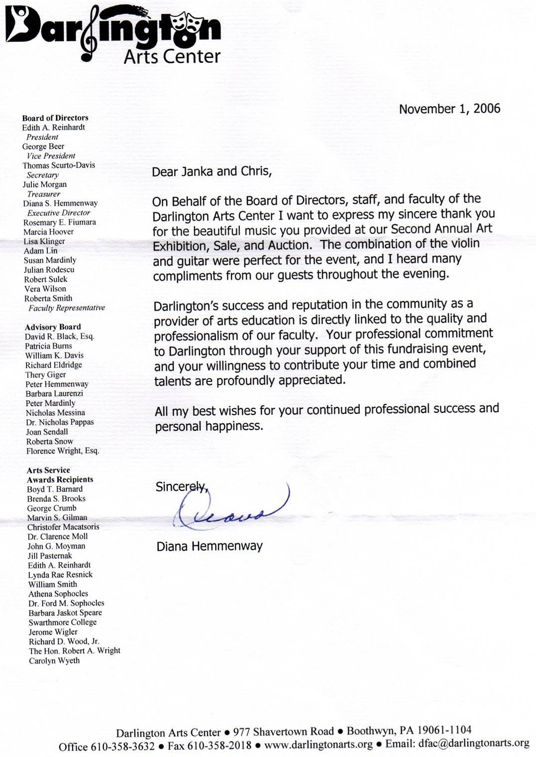 Thank You To Committee Member Letter Sample Gallery  Letter Format