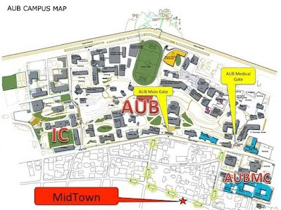george washington university campus map AUB   Rim Awik
