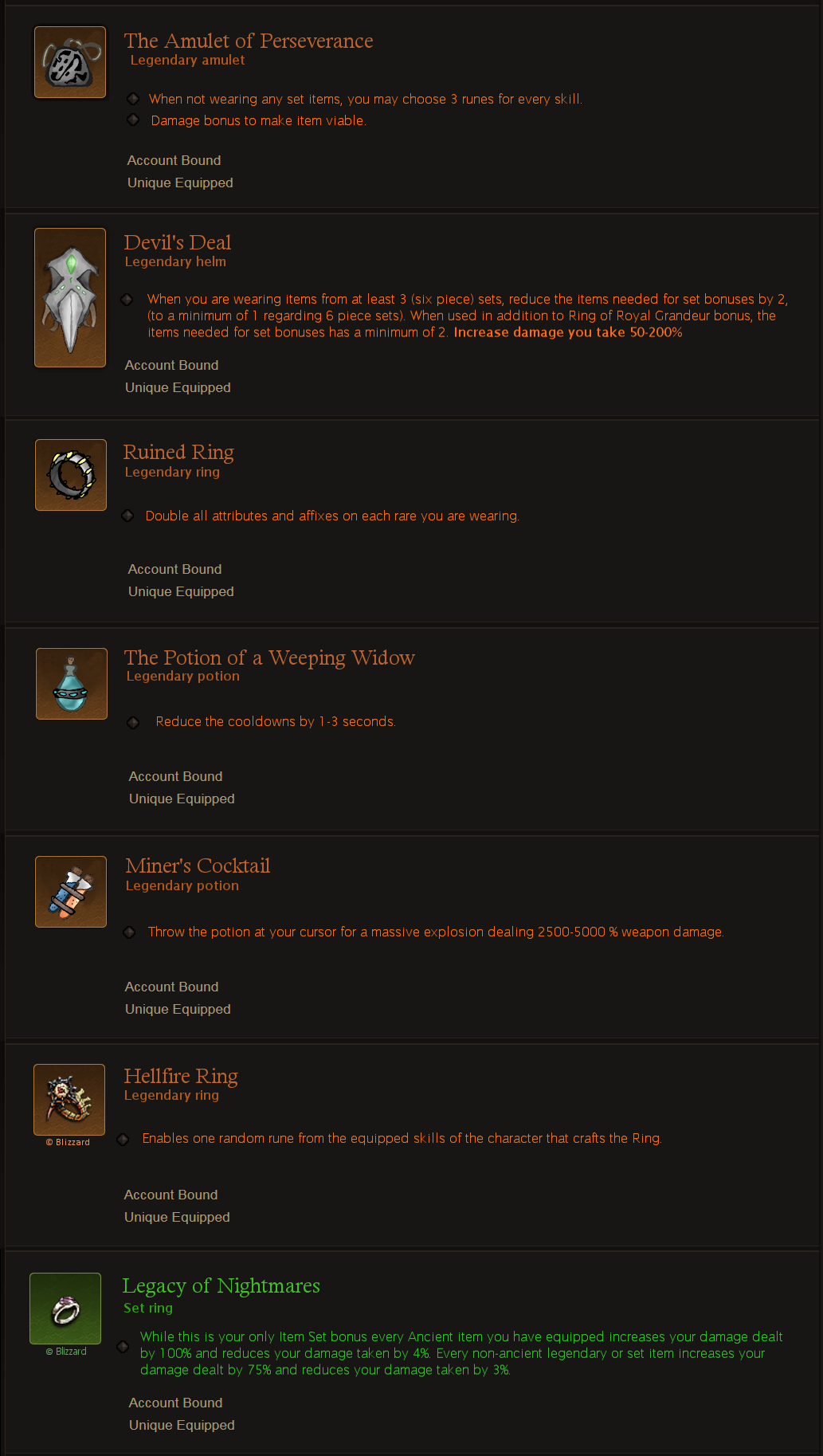 3 New Legendary Items For Increased Build Variety Diablo Iii Forums