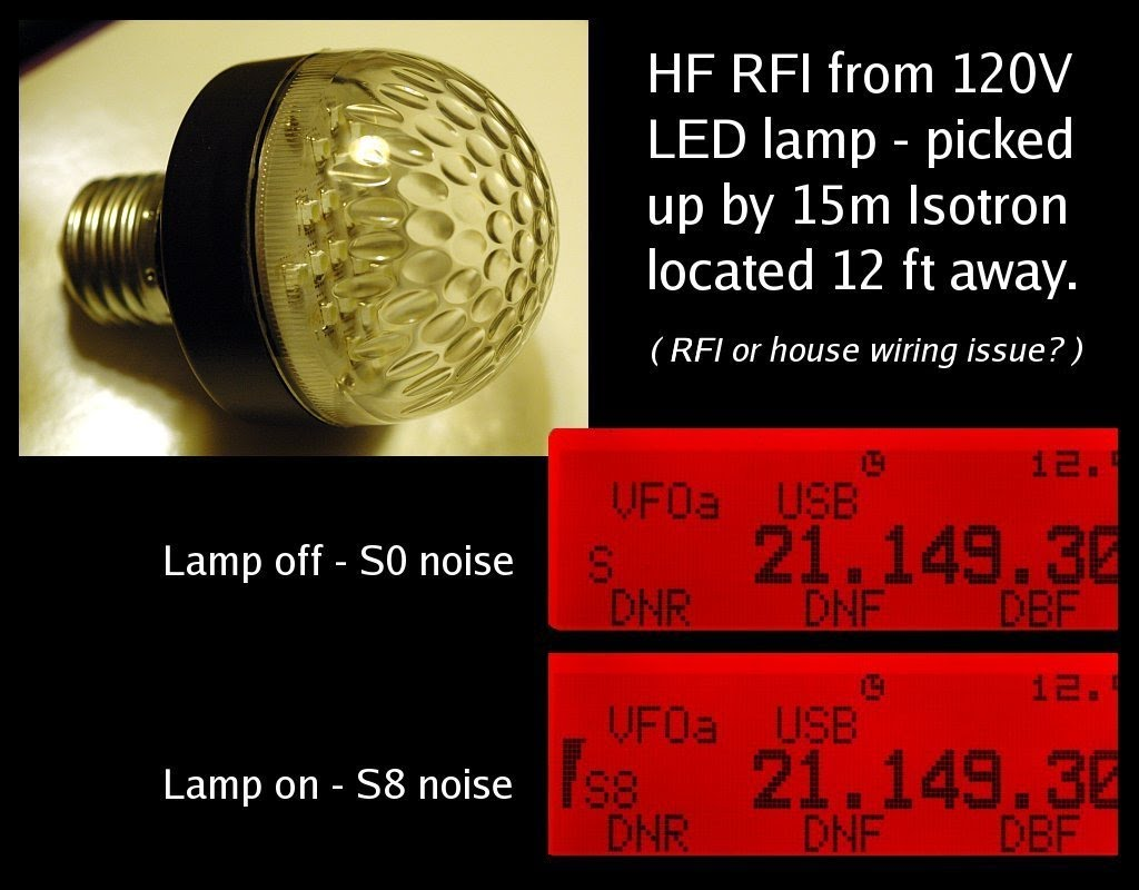 Hf Projects Wiring 120vac Led Light 12 Feet Away Whereas Incandescent Bulbs Do Not Have This Problem Note Re Investigated The Issue Using My 15m Dunestar Filter