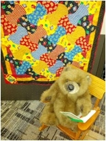 Reading Readiness quilt and bear