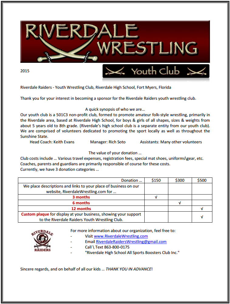 Sample Sponsorship Letter For Sports Tournament