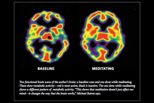 The performance brain roald coaching and counselling human brain under peak performance during meditation red area represent more blood flow in those area ccuart Choice Image