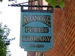 Roanoke Public Library sign