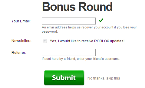 Roblox Email Address Signing Up Roblox Web