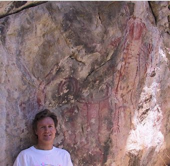 II. Photo of me at Back Canyon Pictograph site, CA