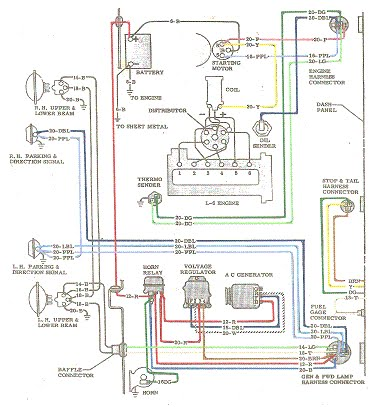 64 chevy wiring harness diagram 64 chevy color wiring diagram - the 1947 - present ... 2002 chevy wiring harness diagram #4