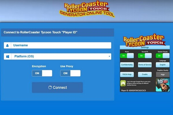 RollerCoaster Tycoon Touch Hack Online Generator Coins and