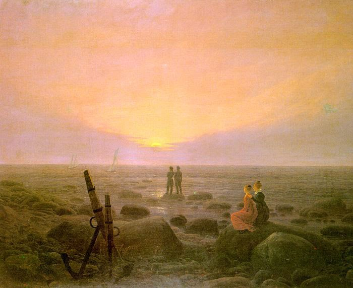 El romanticismo Caspar-David_Friedrich_Moon_rising_over_Sea