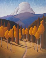"""Discover Santa Fe"" Oil on Canvas by Ronnie Layden"