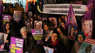 Protests for women's rights in Turkey.