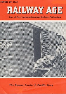 Railway Age Cover, August 1955