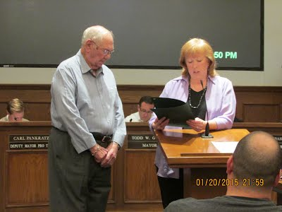 Bob Camack received recognition at City Council meeting