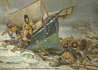 Sir John Franklin dying by his boat. Photograph: © National Maritime Museum, London