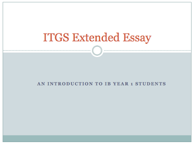 Itgs Extended Essay Guide  Mr Stevensons Extended Essay Site Itgs Extended Essay Guide Compare And Contrast Essay On High School And College also Othello Essay Thesis Locavore Synthesis Essay