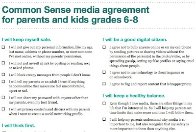 CommonSense Media Use Agreement