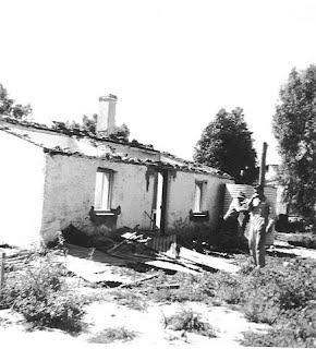 Russ Cottage 1970 in a derelict state