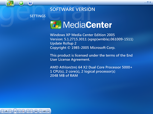 what is windows media center store update manager