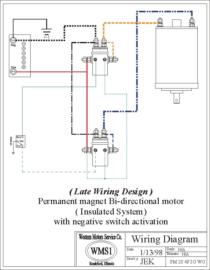 Winch Wiring Diagram Two Solenoid