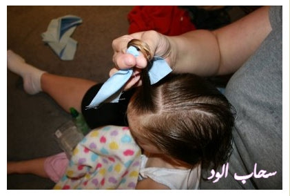 تعلمي كيفية عمل اروع التسريحات لطفلتك بالخطوات المصورة rag-curls5.jpg