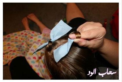 تعلمي كيفية عمل اروع التسريحات لطفلتك بالخطوات المصورة rag-curls9.jpg