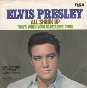 """ELVIS PRESLEY - All Shook Up / That's When Your Heartaches Begin 7"""""""