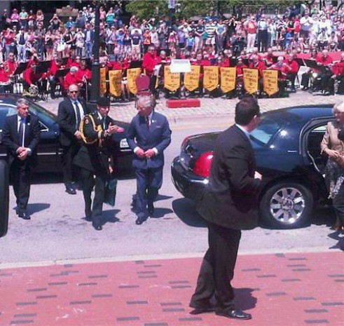 Saint Mary's Band plays to welcome Prince Charles and Camilla to Saint John