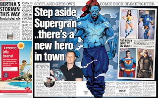 saltire, superhero, scottish