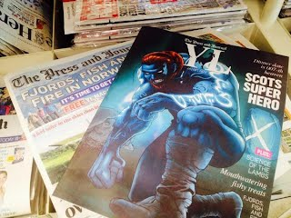 Saltire, press and journal, scottish, superhero