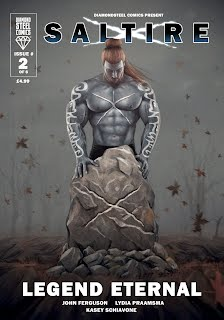 Saltire, superhero, comics, book