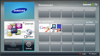 How to setup gmail account - Apps for Samsung TV
