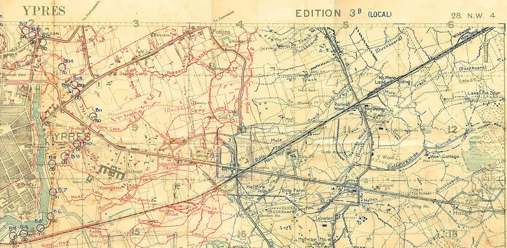 Maps - North Somerset Yeomanry - WWI