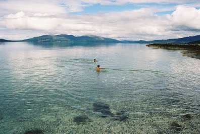 Bathing off Sandaig