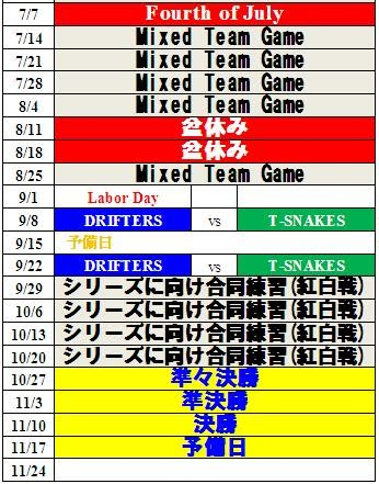 league schedule san diego rubber baseball league