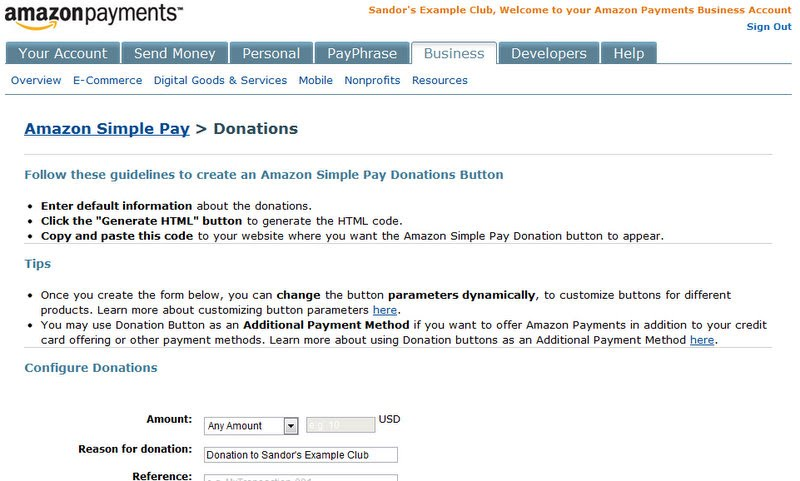 Step 10: Create donation buttons and add them to the home