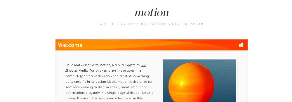 Free Accordition Web Template