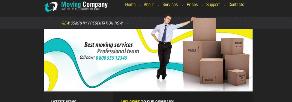 Free Movers Web Template