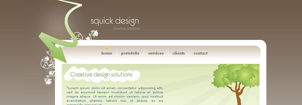 Squick Design Free Web Template