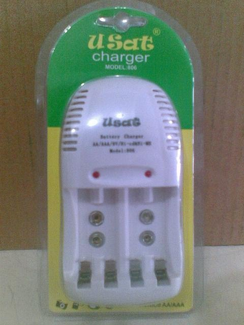 Charger USAT dan Maxell LR41, LR44, LR1130, CR2016, CR2025, CR2032 - Baterai Battery Senter Flashlight Charger Eneloop Sanyo Imedion