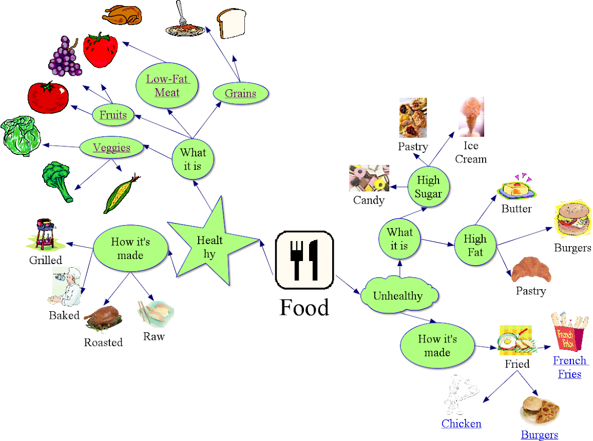 Food Concept Map Saranderson155class
