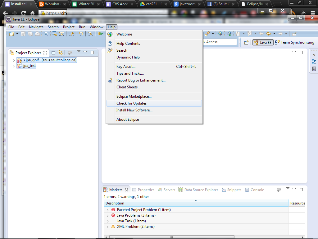 Install eclipse saultcollege run eclipse and update it install the jpa diagram editor ccuart Choice Image